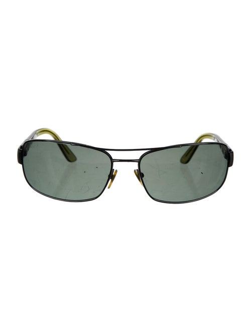Persol Square Polarized Sunglasses silver