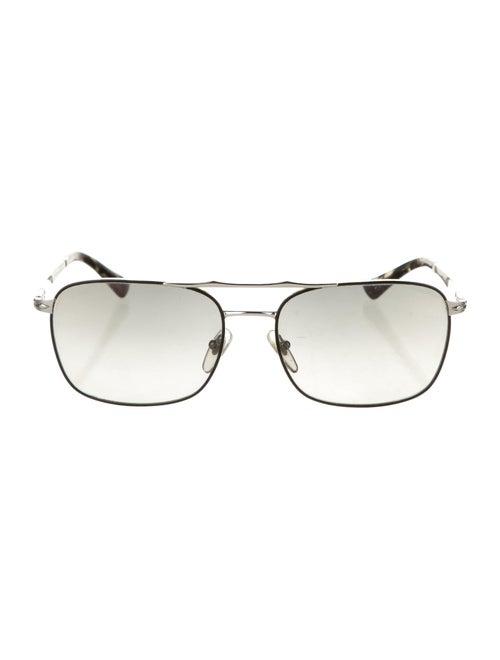 Persol Tinted Aviator Sunglasses silver