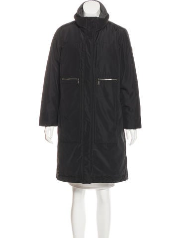 Post Card Insulated Knee-Length Coat None