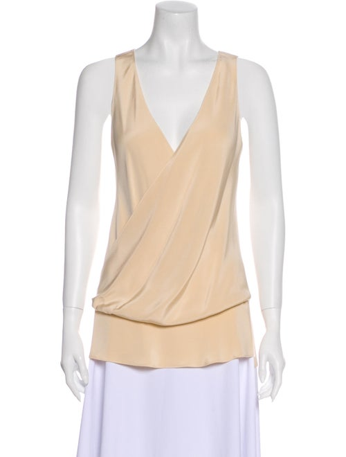 Peter Cohen Silk Wrap Top Cream