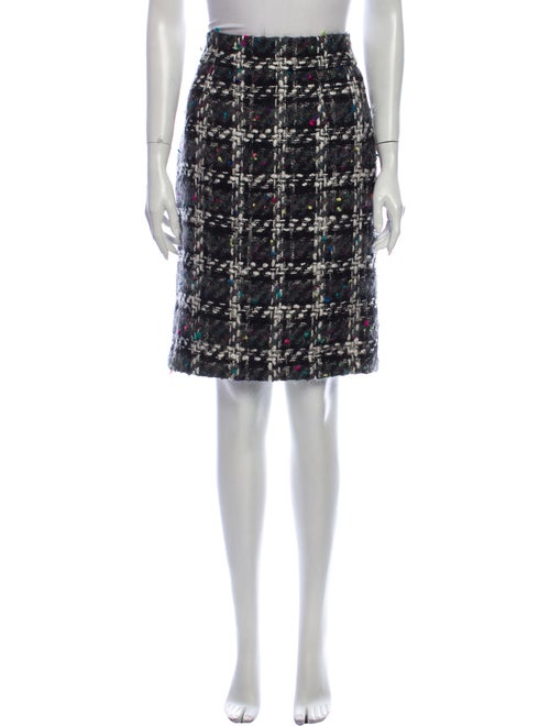 Patrick Kelly Wool Knee-Length Skirt Wool