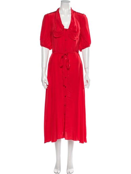 Patou Silk Long Dress Red