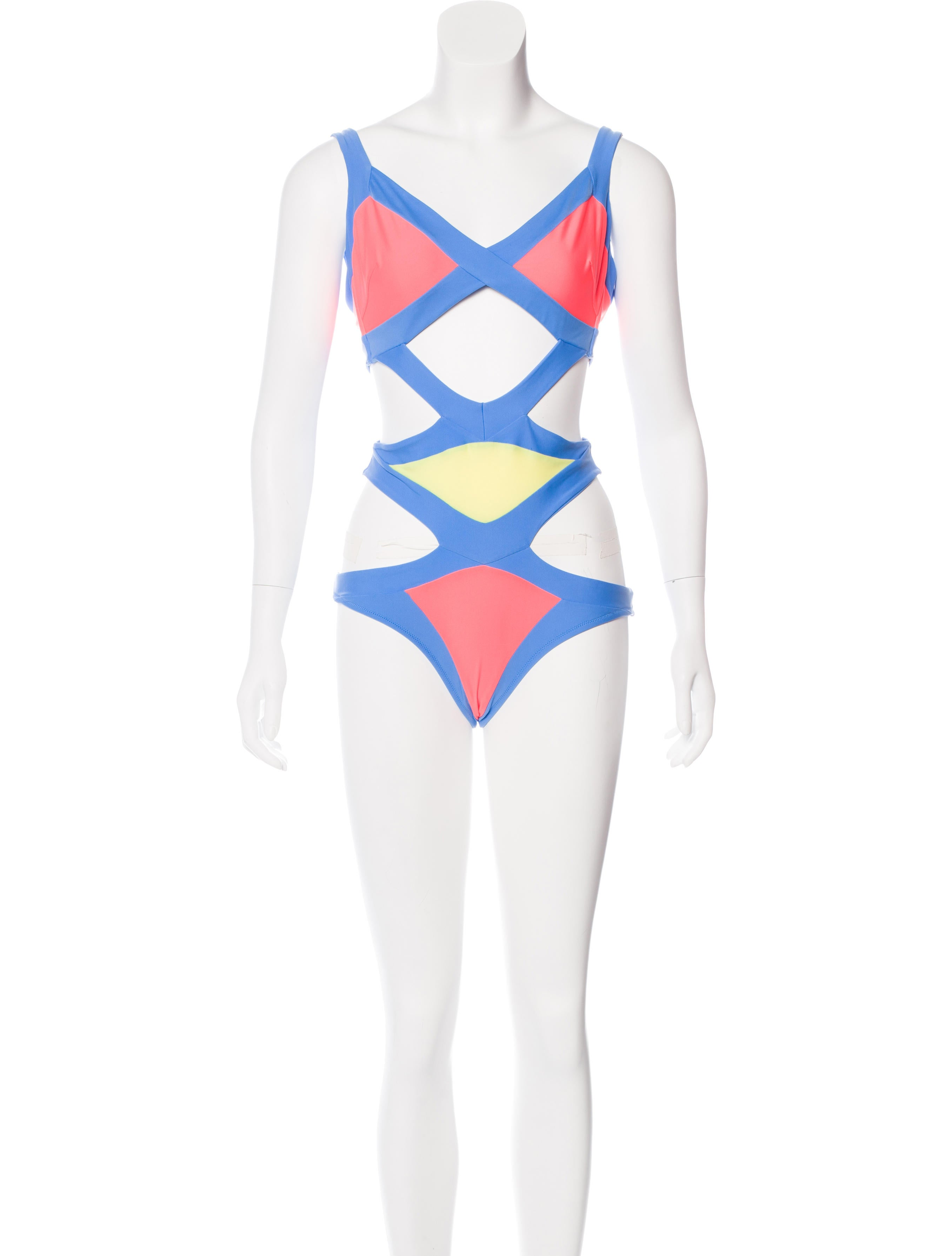 602a12a0d8 Agent Provocateur Mazzy Colorblock Swimsuit w  Tags - Clothing ...