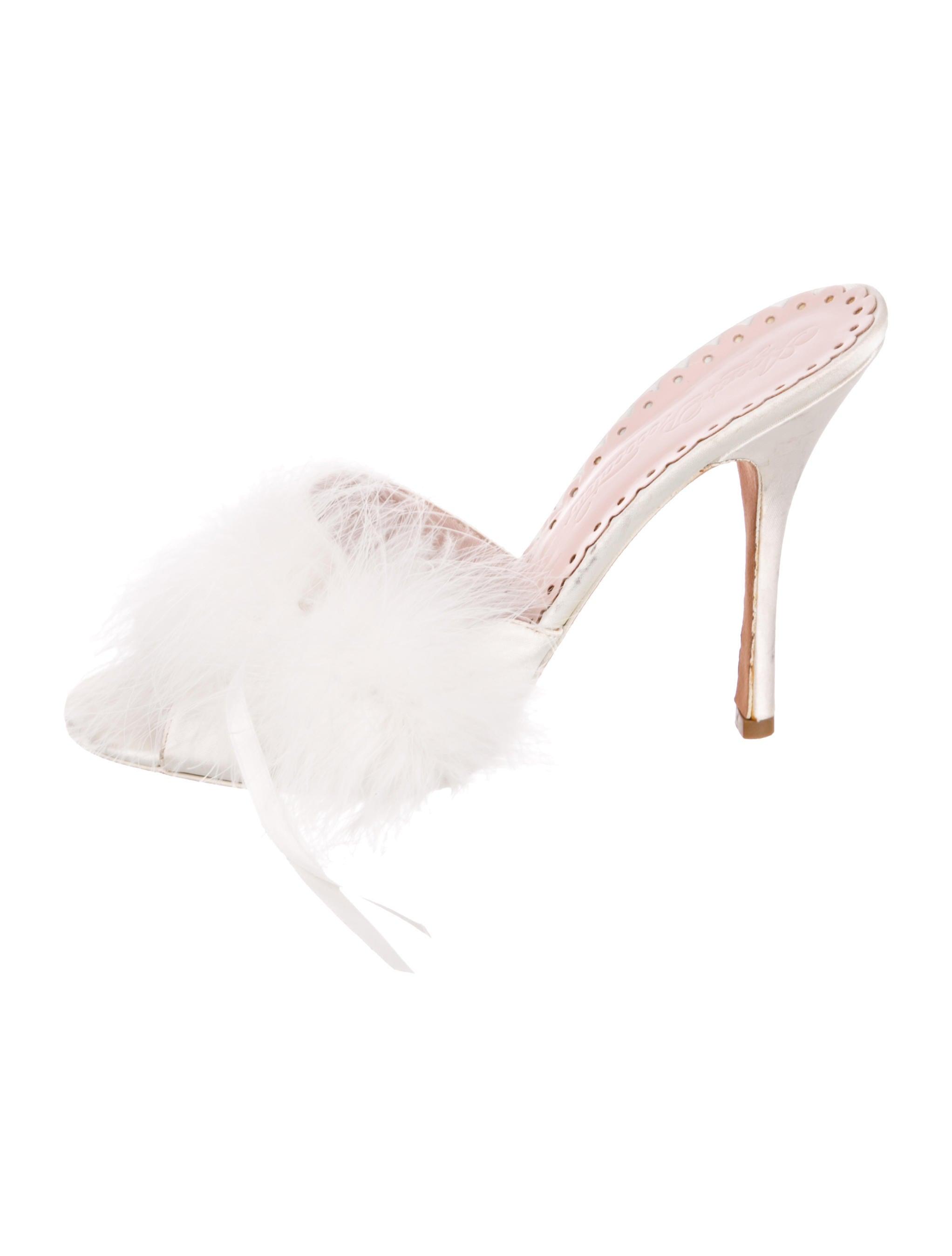 Agent Provocateur Feather-Trimmed Slide Sandals outlet 2014 newest 1xvq0s1dV