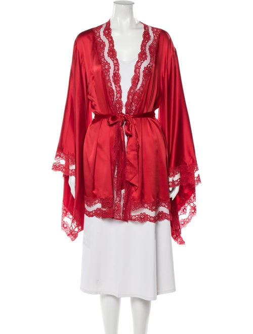 Agent Provocateur Silk Robe Red