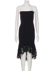 Agent Provocateur Strapless Knee-Length Dress