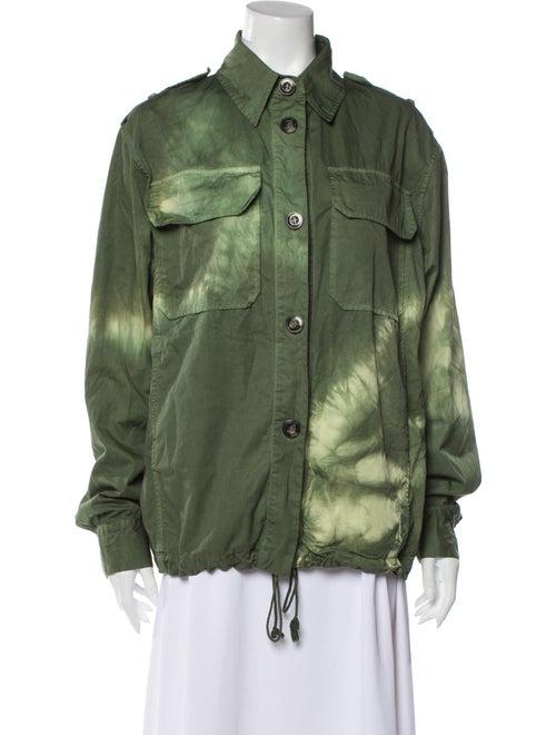 Raey Tie-Dye Print Utility Jacket w/ Tags Green