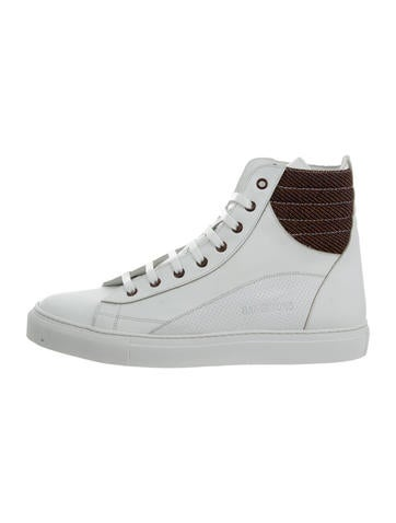 Raf Simons Leather High-Top Sneakers w/ Tags