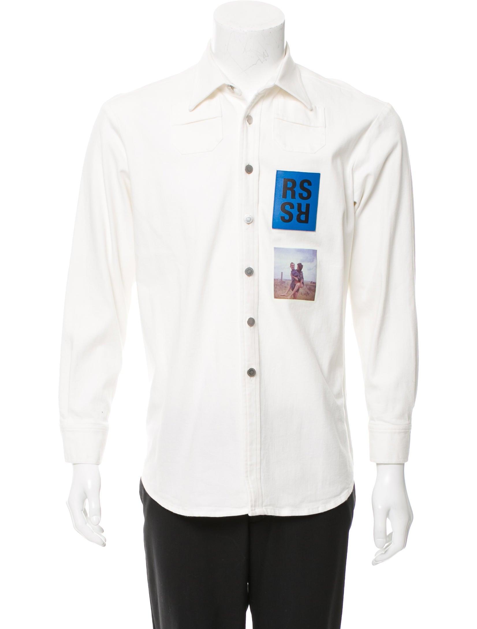 fddb098d8 Raf Simons Photo Patch Denim Shirt - Clothing - RAF20507 | The RealReal