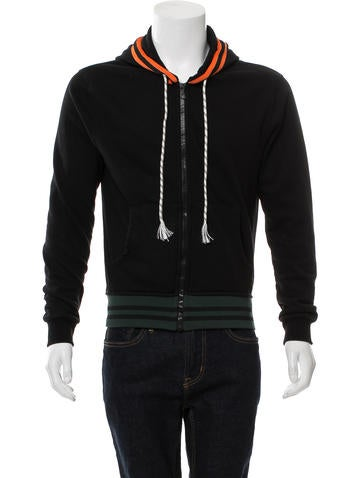 Raf Simons Knit Zip-Front Hoodie None