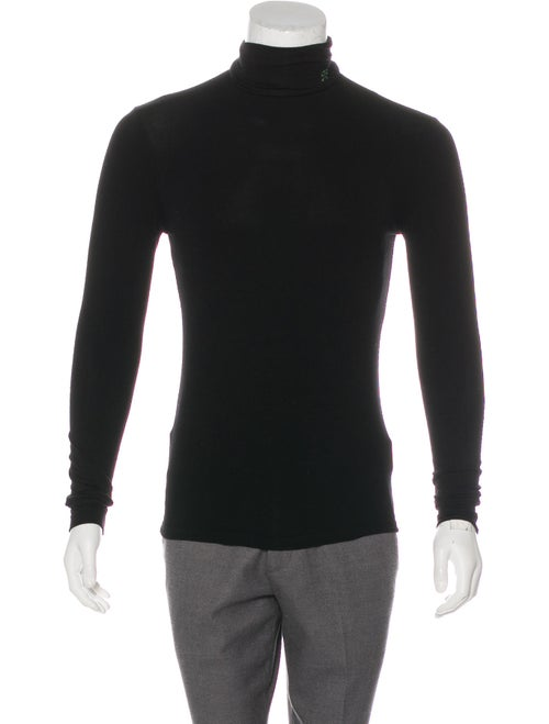 Raf Simons Long Sleeve Turtleneck Shirt black