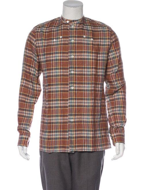 Raf Simons 2017 Plaid Linen Button-Up Shirt w/ Tag