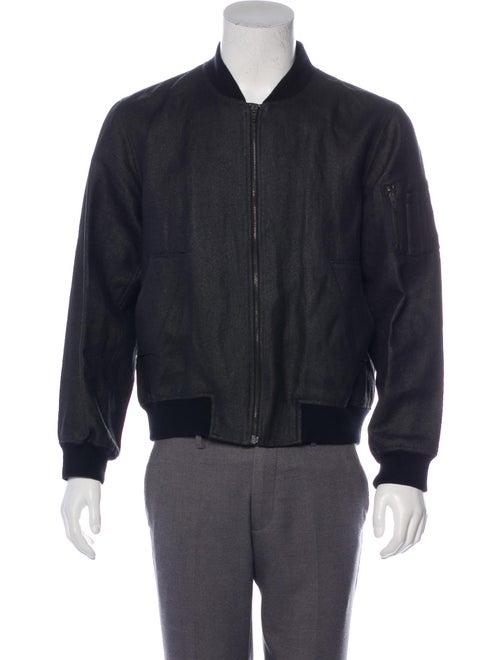 Raf Simons 2009 Textured Bomber Jacket grey