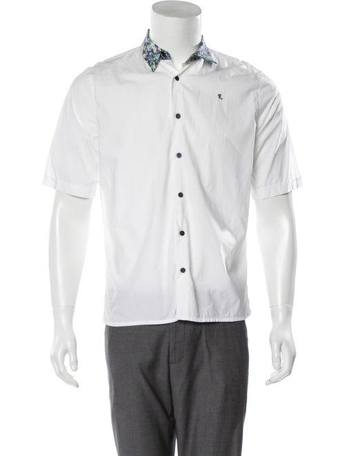 Raf Simons Embroidered Woven Shirt white