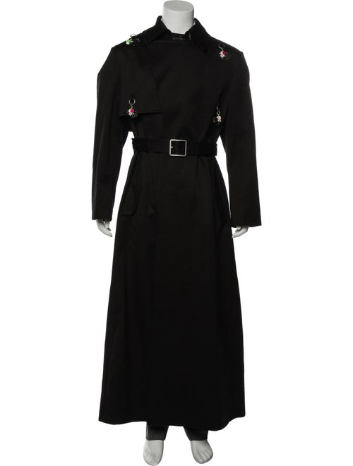 Raf Simons Ring Accented Long Trench Coat w/ Tags
