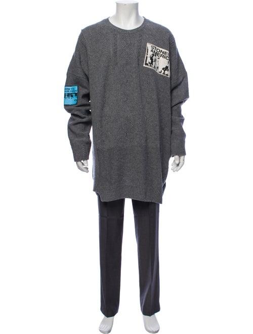 Raf Simons Wool Knit Sweater grey