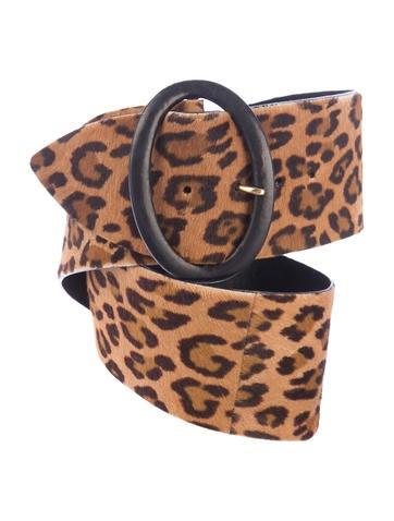 Leopard Print Ponyhair Belt