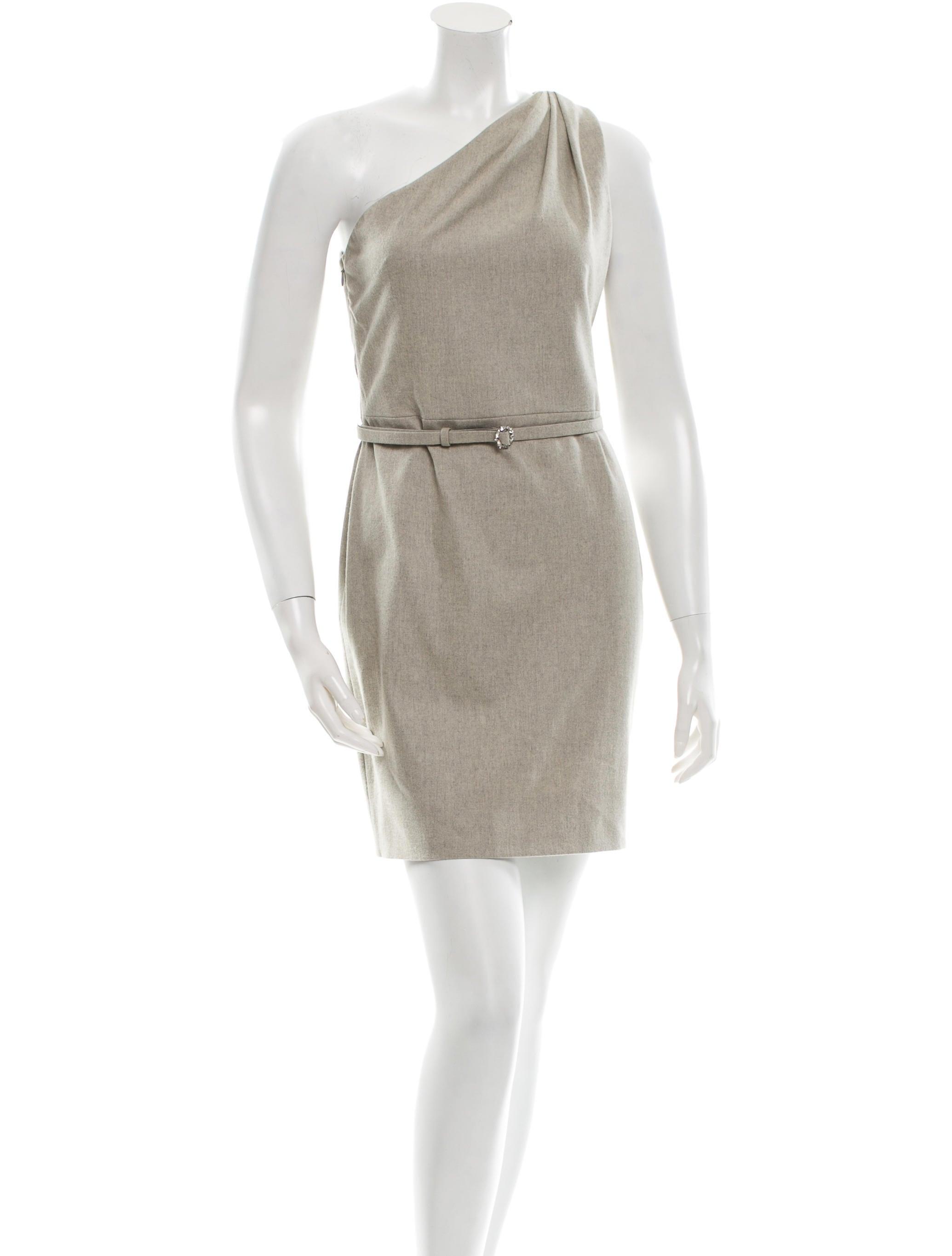 Ralph Lauren Collection Belted One-Shoulder Dress - Clothing ...