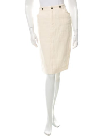 Ralph Lauren Collection Slit-Accented Knee-Length Skirt w/ Tags