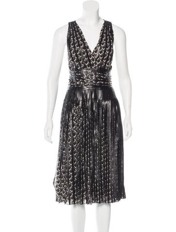 Ralph Lauren Collection Sleeveless Leather-Accented Dress w/ Tags!