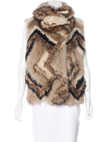 Ralph Lauren Collection Shearling Fur Vest