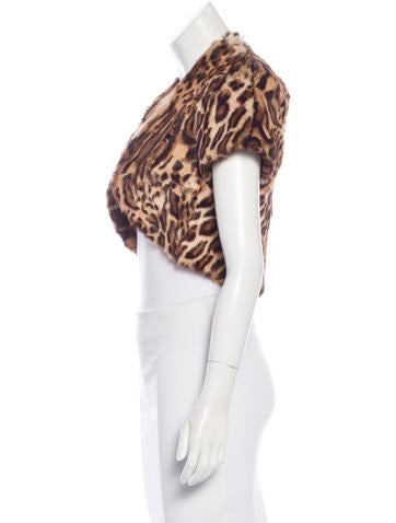 Leopard Calf Hair Bolero w/ Tags