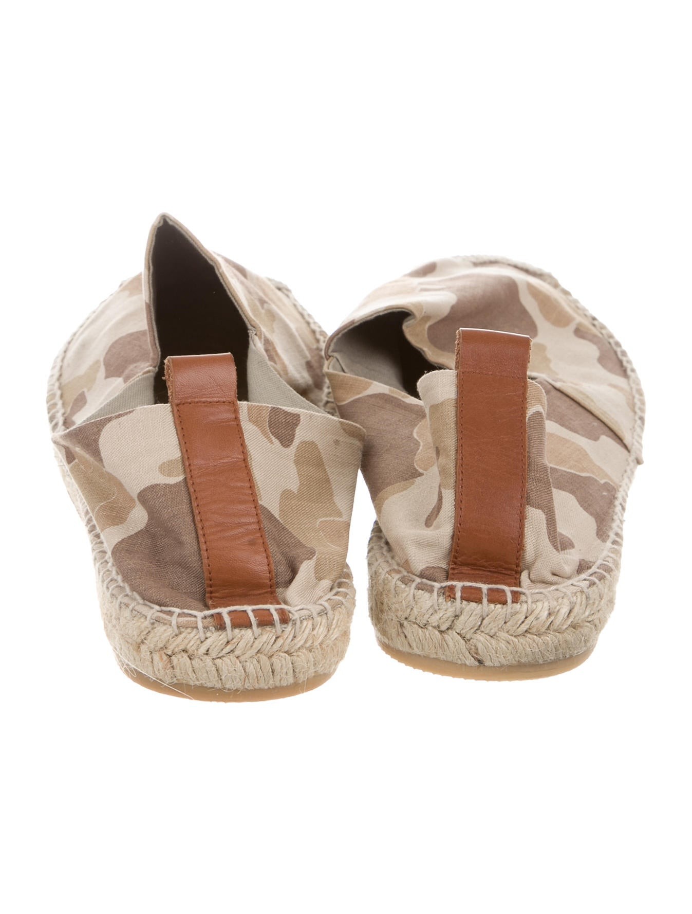 ralph lauren collection camouflage leather trimmed espadrilles shoes ral21404 the realreal. Black Bedroom Furniture Sets. Home Design Ideas
