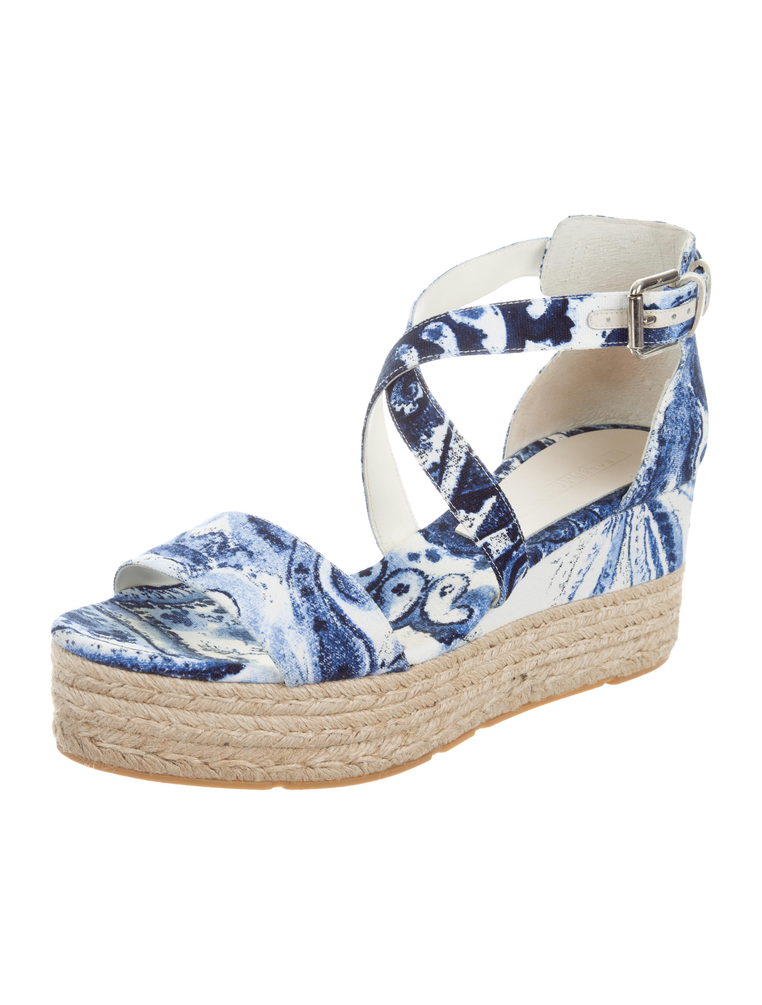 ralph lauren collection espadrille wedge sandals shoes ral21624 the realreal. Black Bedroom Furniture Sets. Home Design Ideas