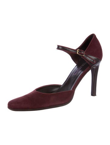 clearance classic Ralph Lauren Collection Cadence Leather-Trimmed Pumps shopping online original sale low shipping pay with paypal cheap online yFB8lnU