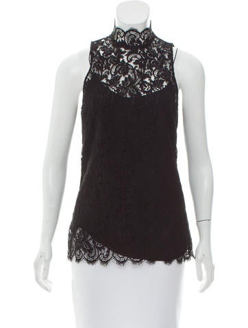 Ralph Lauren Collection Lace Sleeveless Top None
