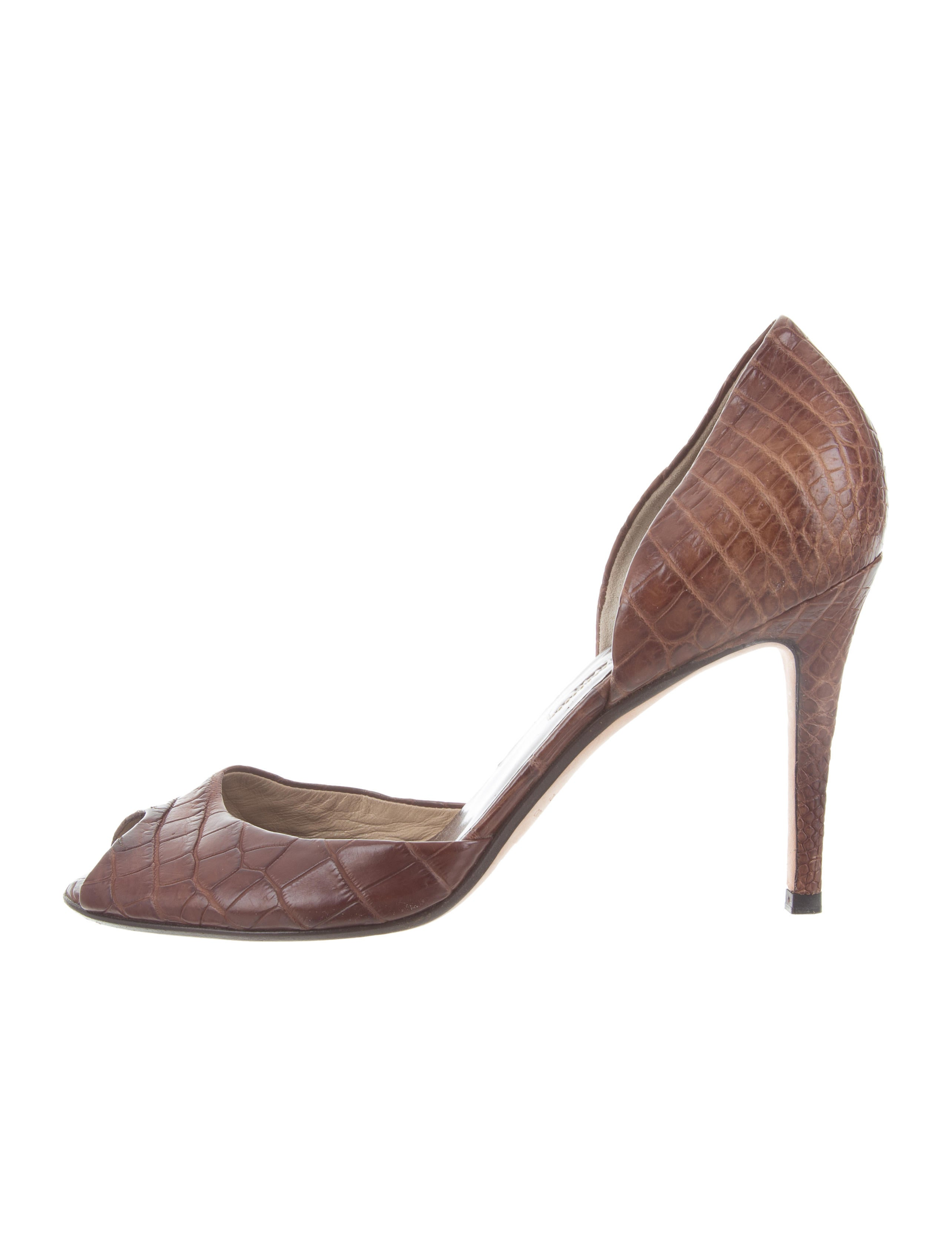 buy cheap for sale Ralph Lauren Collection Leather Embossed Pumps buy cheap from china buy cheap countdown package buy cheap with credit card low price cheap price jncdmIfnu