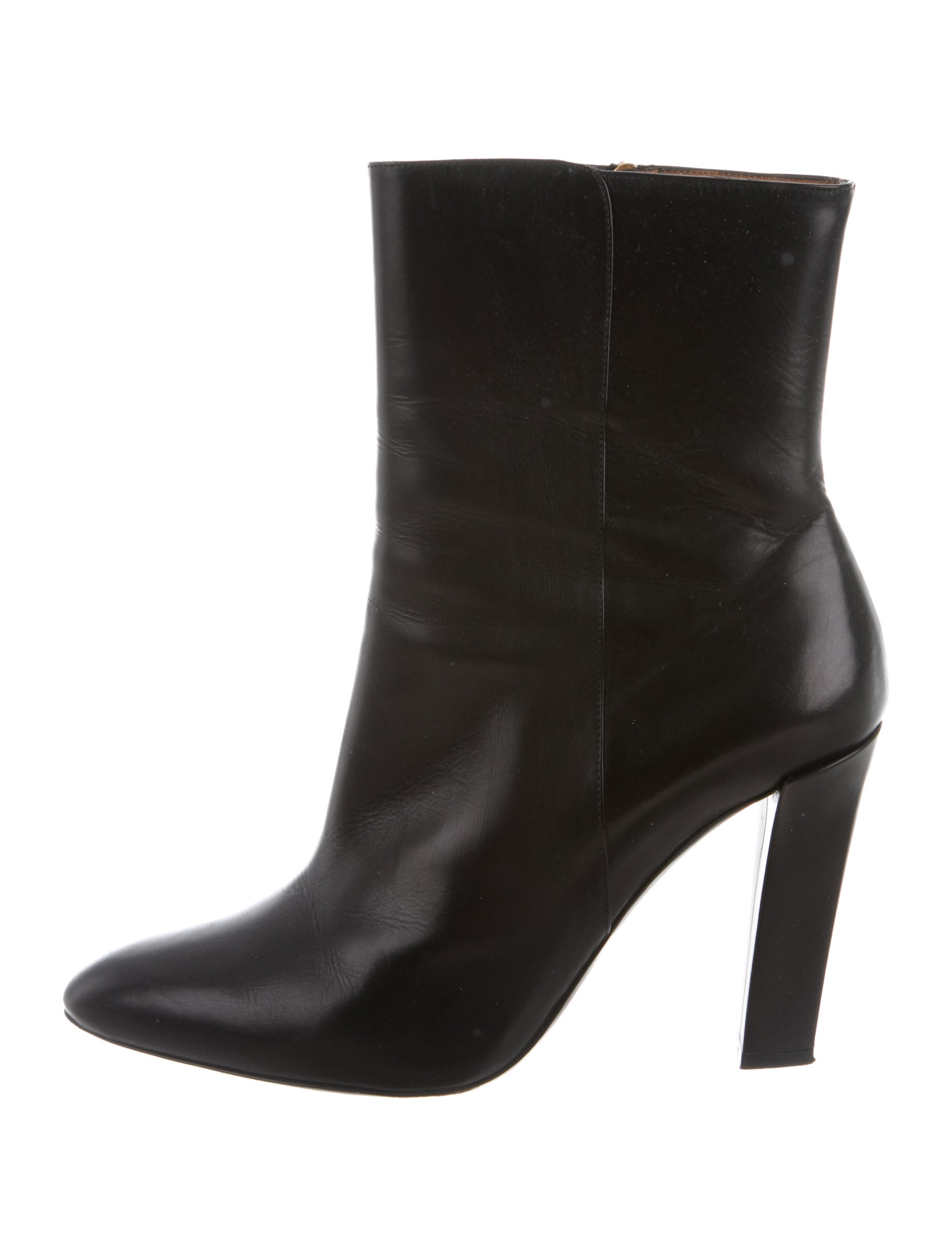 Ralph Lauren Collection Leather Pointed-Toe Boots