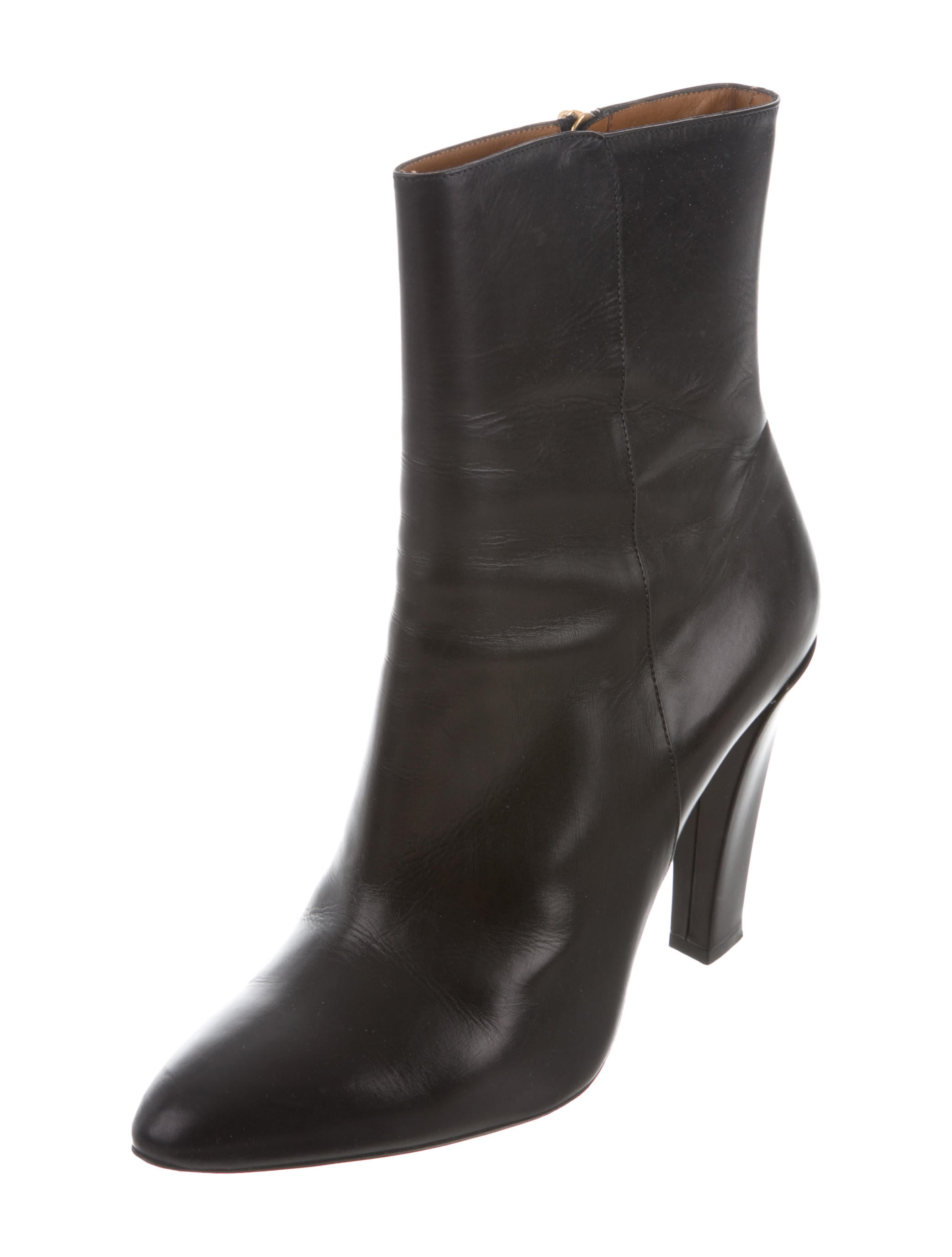 Ralph Lauren Collection Leather Pointed-Toe Ankle Boots buy cheap recommend good selling for sale J0igoMmsY