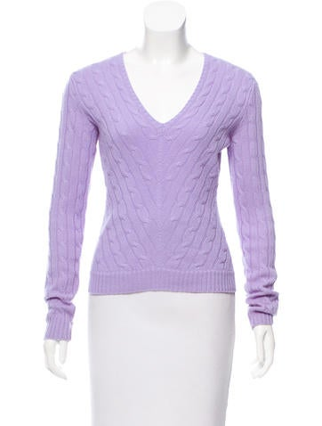 Ralph Lauren Collection Cable-Knit Cashmere Sweater None
