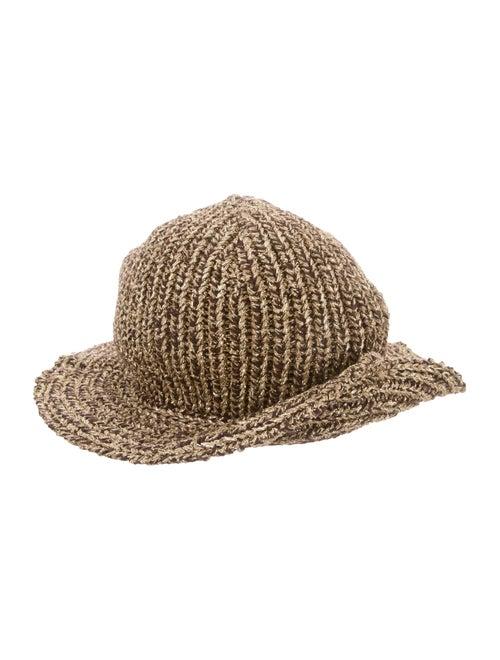 5de3d5aca59 Ralph Lauren Collection Metallic Cashmere Knit Hat - Accessories ...
