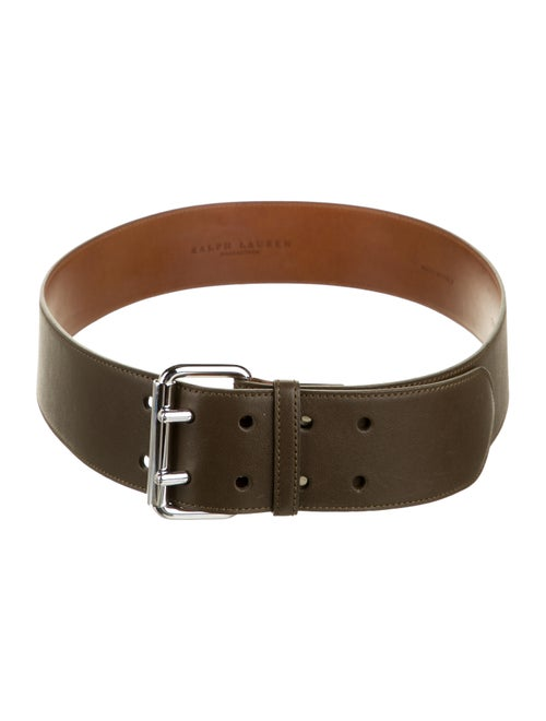Ralph Lauren Collection Leather Wide Belt Brown