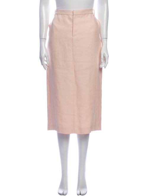 Ralph Lauren Collection Linen Midi Length Skirt Pi