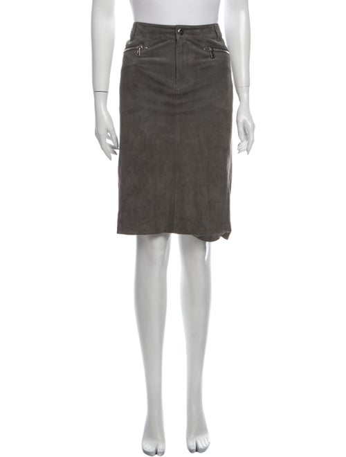 Ralph Lauren Collection Suede Knee-Length Skirt Gr