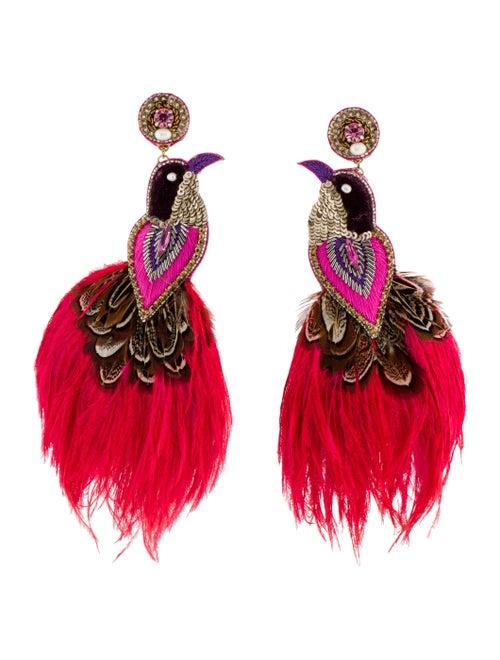 Ranjana Khan Flamingo Earrings Gold