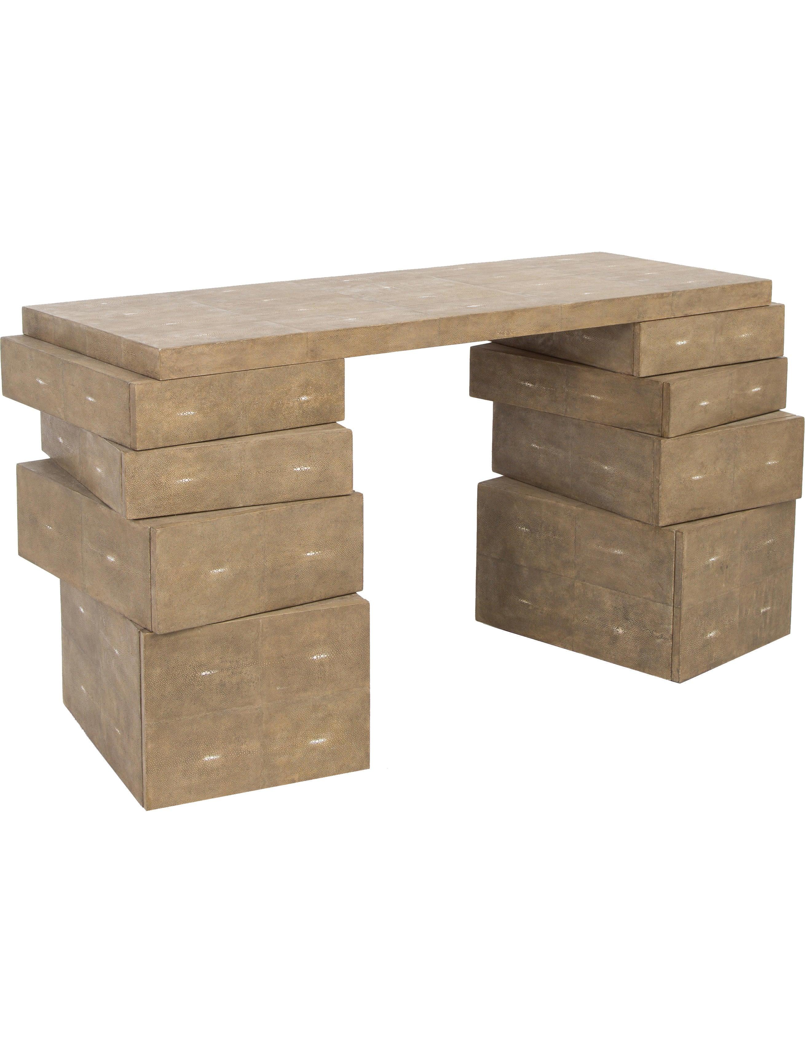 R Y Augousti Shagreen Desk Furniture Ray20199 The Realreal