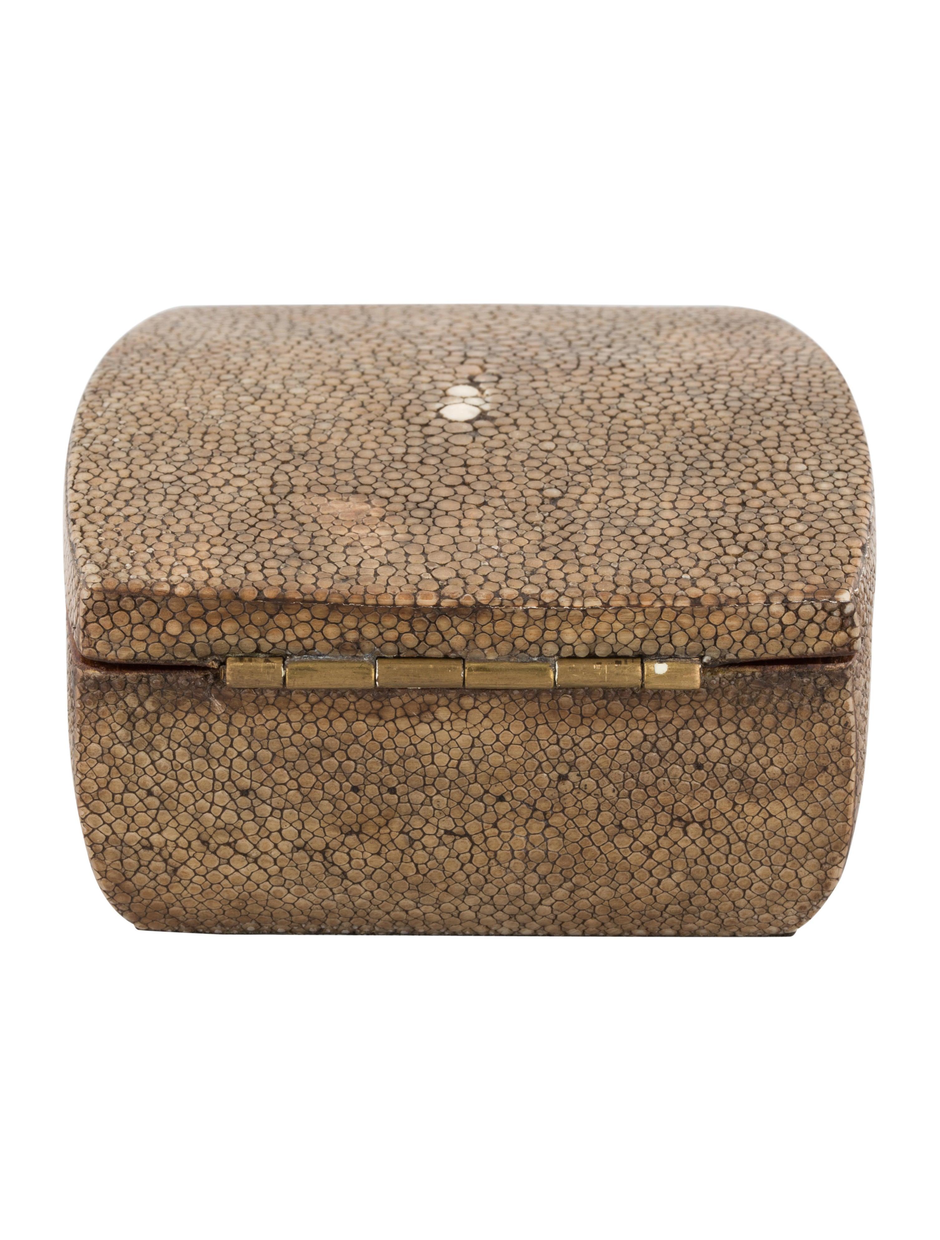 RY Augousti Shagreen Jewelry Box Decor And Accessories RAY20242