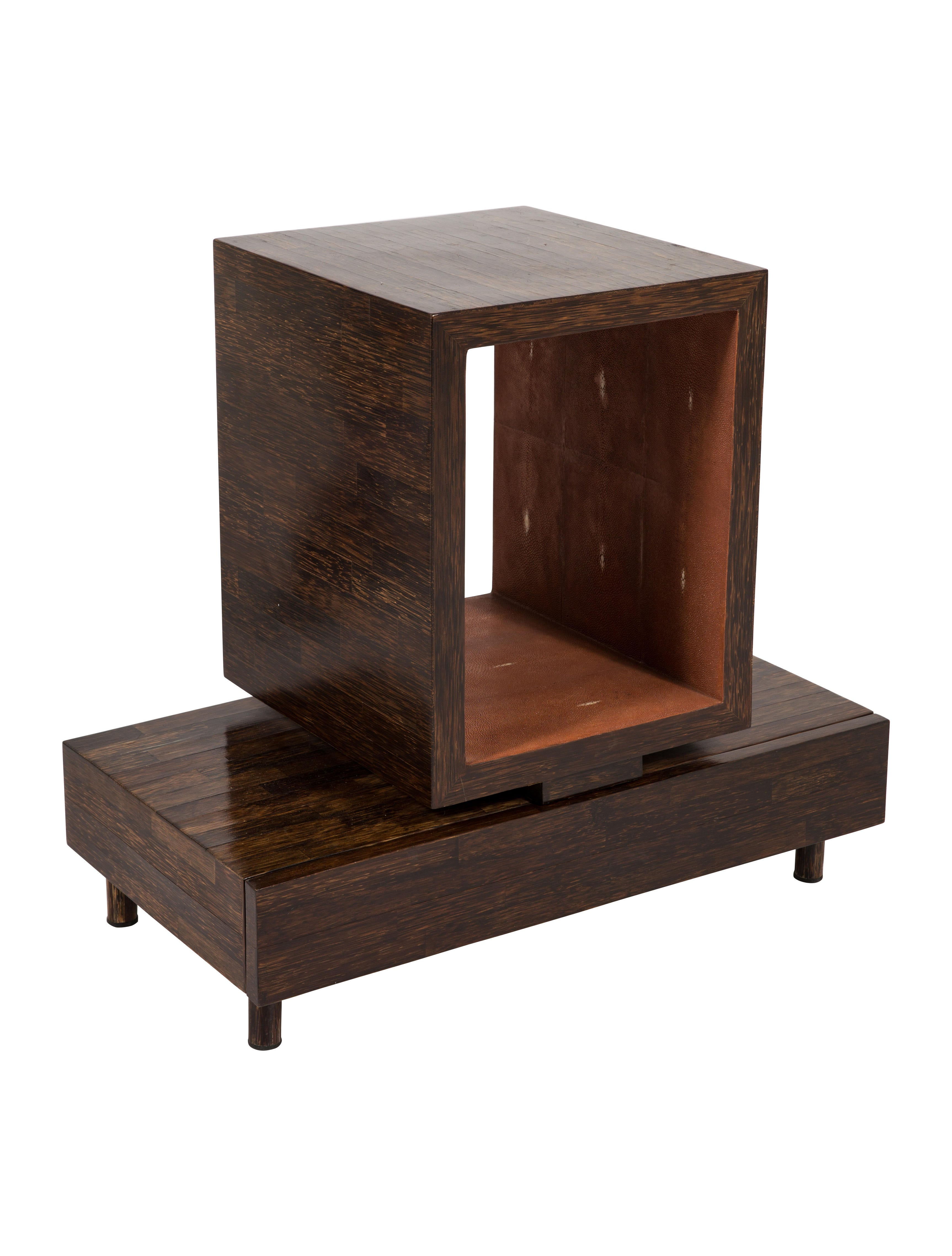 R Y Augousti Shagreen Side Table Furniture Ray20307 The Realreal