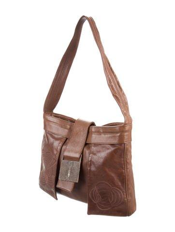 Stingray-Trimmed Shoulder Bag