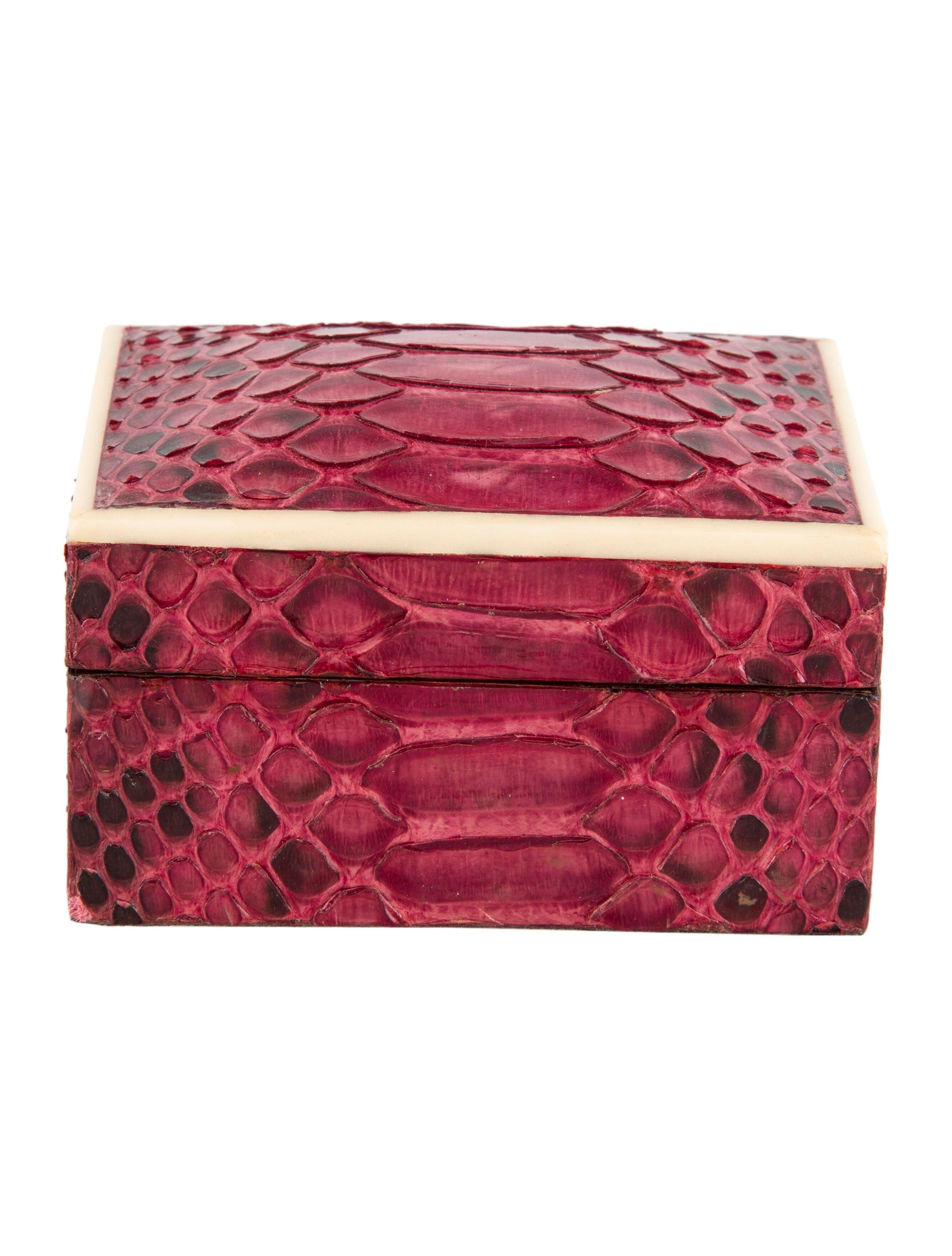 R&Y Augousti Python Trinket Box - Decor & Accessories -           RAY20708 | The RealReal