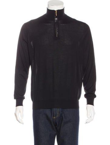 Stefano Ricci Crocodile-Trim Cashmere & Silk Sweater None