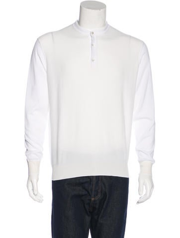 Stefano Ricci Knit Henley Sweater None