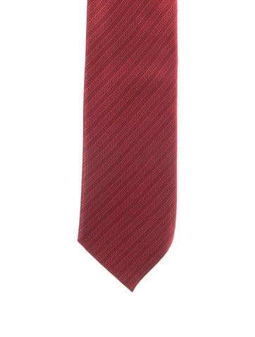 Striped Silk Tie w/ Tags