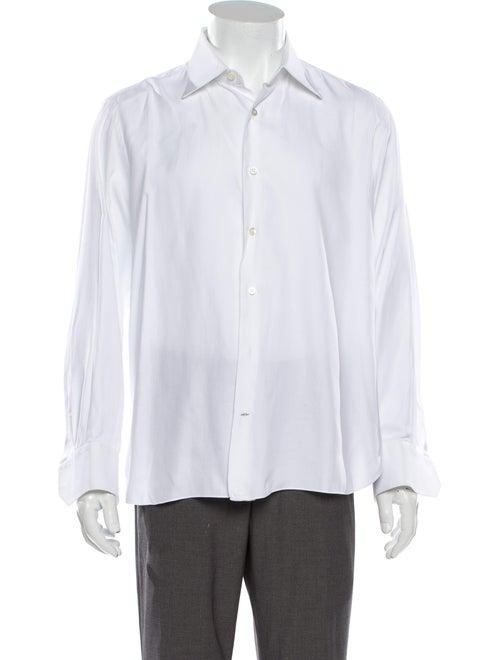 Stefano Ricci Long Sleeve Dress Shirt White