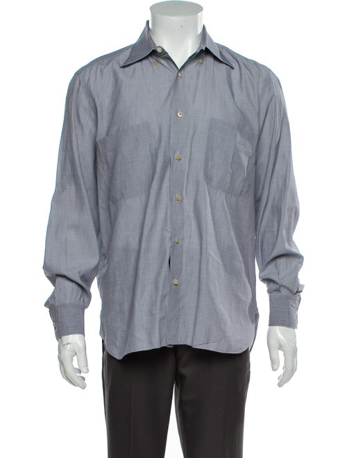Stefano Ricci Long Sleeve Dress Shirt Grey