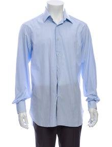 Stefano Ricci Striped Long Sleeve Dress Shirt